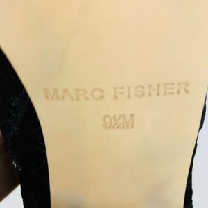 Marc Fisher Shoes - Marc Fisher Ileesia Boots Black Crushed Velvet 9.5